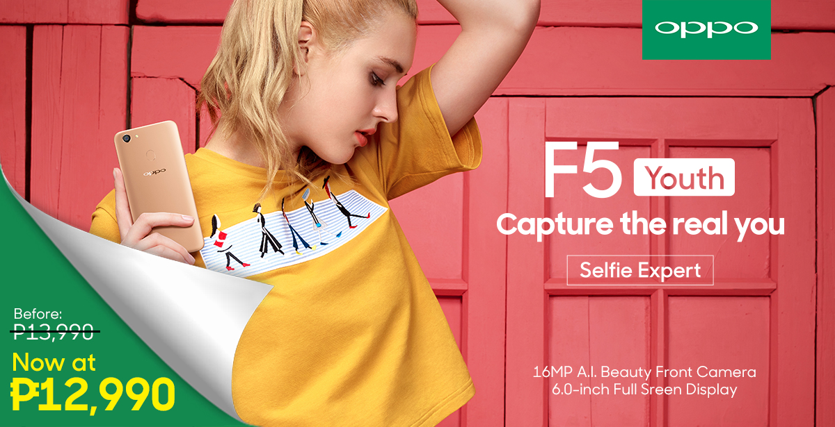 , The OPPO F5 Youth Can Now be Yours for Only PhP12,990!, Gadget Pilipinas, Gadget Pilipinas