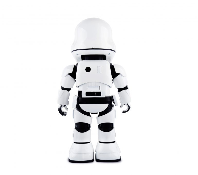 Stormtrooper back 770x684 - UBTECH Announces Star Wars Stormtrooper Robot with Companion App
