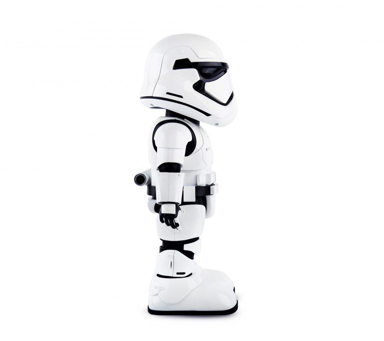 Stormtrooper right 770x684 - UBTECH Announces Star Wars Stormtrooper Robot with Companion App