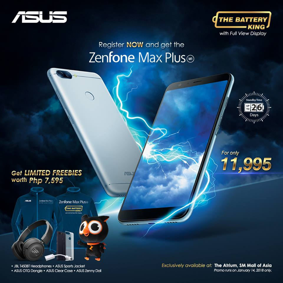 zfmaxplus price - ASUS Zenfone Max Plus will Retail for PhP11,995: Available this January 14!