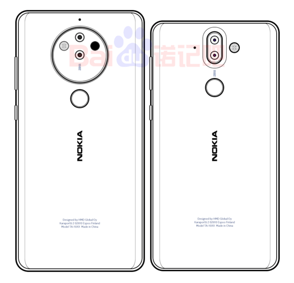 Nokia 10 sketched image - Rumored Nokia 8 Pro May Be Equipped with a Penta-Lens Camera Module