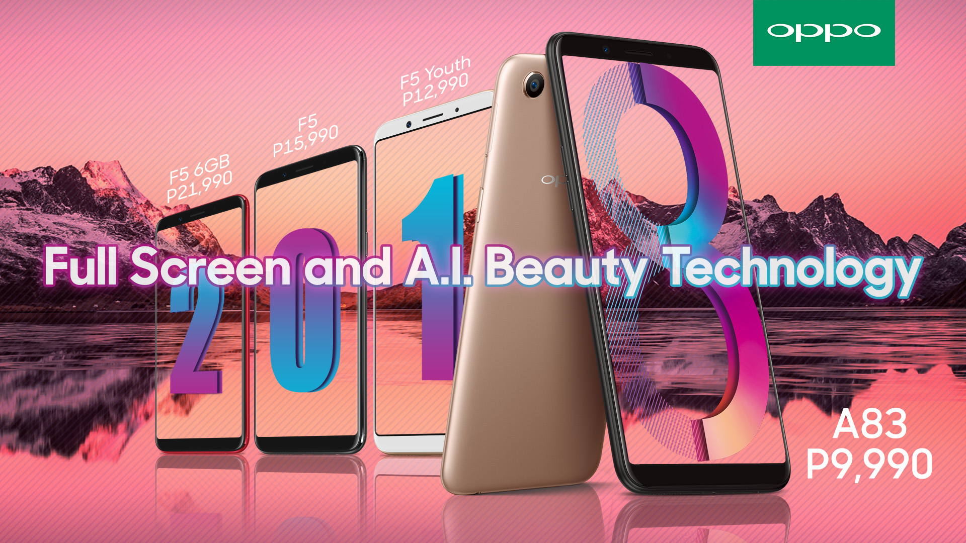 OPPO FullScreen and AI family - OPPO A83 Now Available From Home Credit!