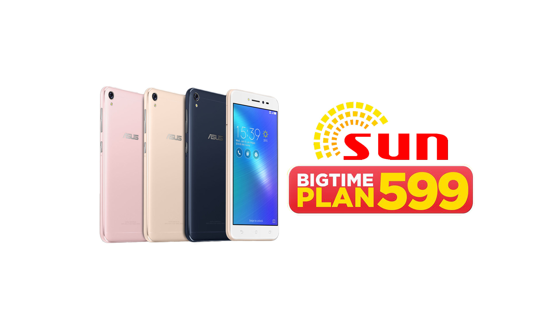 Sun - Zenfone Live, Now Free at SUN Bigtime Plan 599