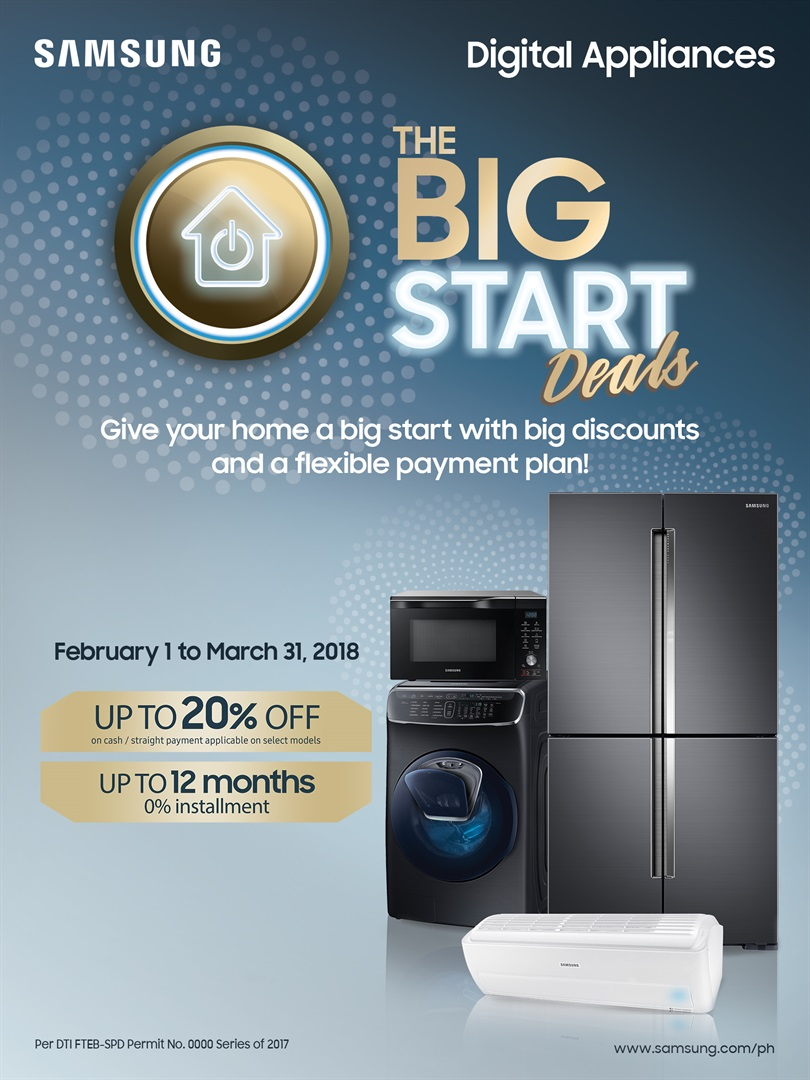 Samsung The Big Start Deals2 - Avail of Great Deals on Samsung Digital Appliances Until March 31!