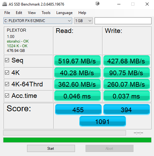 AS SSD Benchmark - Plextor M8V SSD Review: Your SSD Budget Match