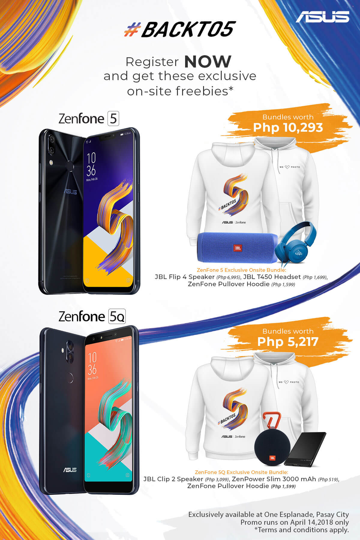 Final FA for Onsite Selling 1 - Get up to PhP10,000 Worth of Freebies When You Buy a Zenfone 5 Series Smartphone on Launch