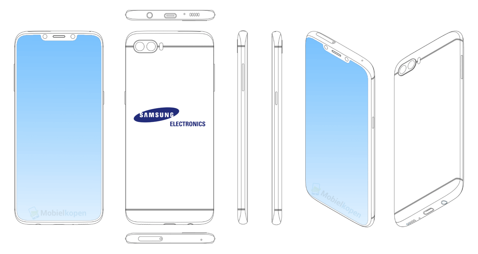 Samsung Patents New Designs For Notch and Full Screen Display