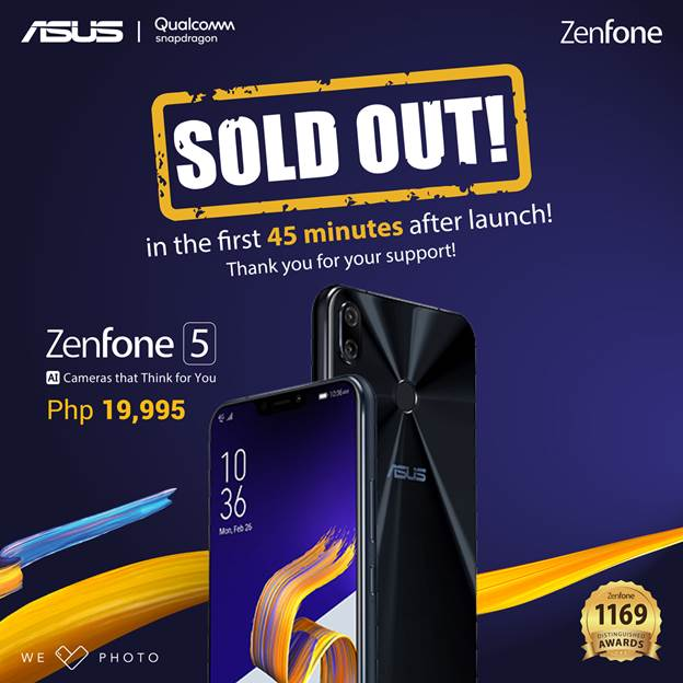 zenfone5 sold out 1 - ASUS Zenfone 5 is Sold Out 45 Minutes After Launch!