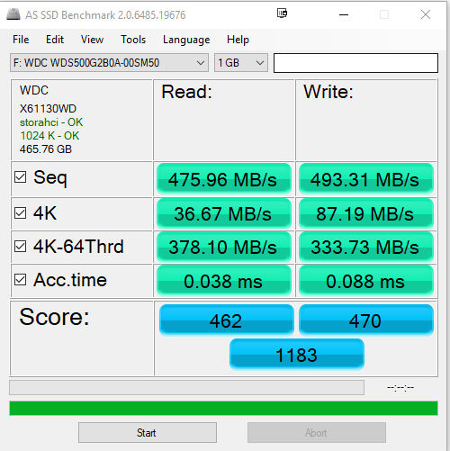 AS SSD Benchmark - WD BLUE 3D NAND SSD Review: Impressive storage performance in a budget package