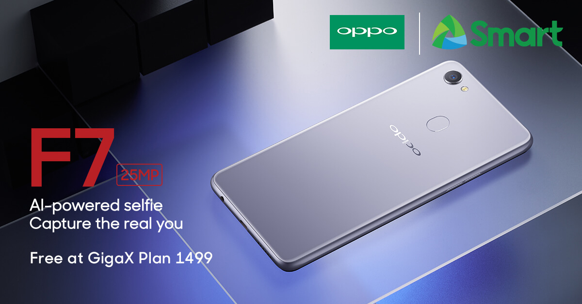 oppo f7 smart, Get the OPPO F7 FREE on Smart's GigaX Plan 1499!, Gadget Pilipinas