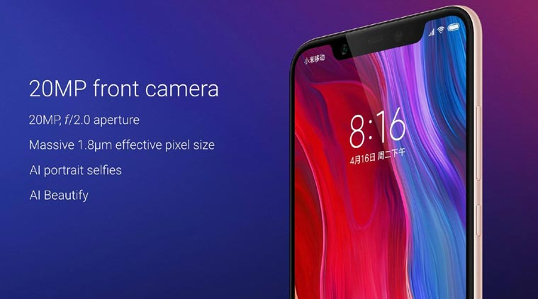 mi8 frontcamera 1 - Xiaomi Mi 8 with Snapdragon 845 and AI-Assisted Optics Now Official!