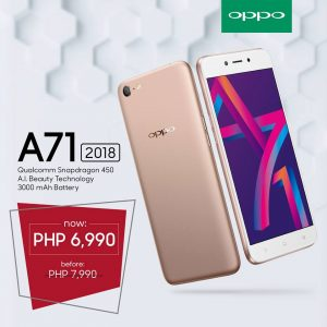 Get the OPPO A71 (2018) for Only PhP6,990!