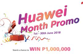 huawei month 2 1 270x180 - Get a Chance to Win Up to PhP1,000,000 with Every Purchase of a Huawei Smartphone this June!