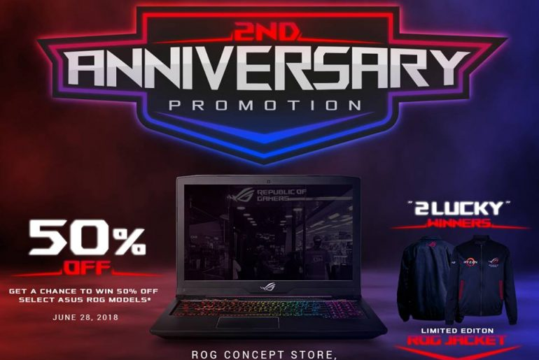 rog 2nd annive 770x515 - Get a Chance to Win 50% Off an ROG Notebook with the Capital of the Republic's 2nd Anniversary Promo!