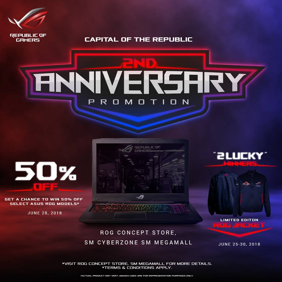 rog 2nd annive - Get a Chance to Win 50% Off an ROG Notebook with the Capital of the Republic's 2nd Anniversary Promo!