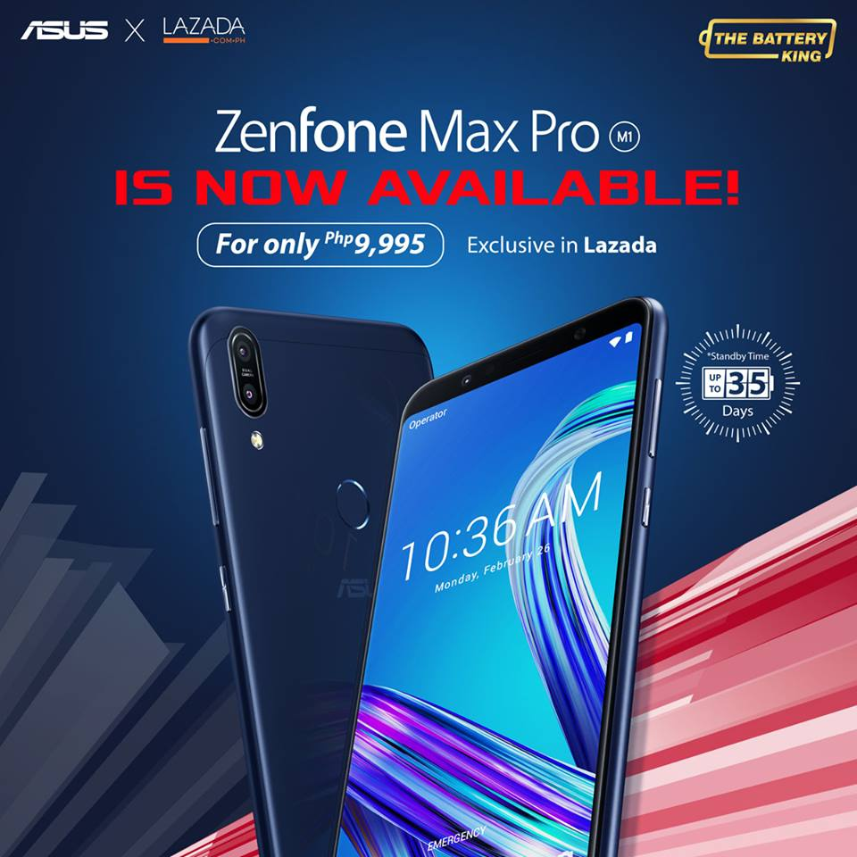 zenfone max pro lazada - ASUS Zenfone Max Pro M1 Now Available in Lazada!