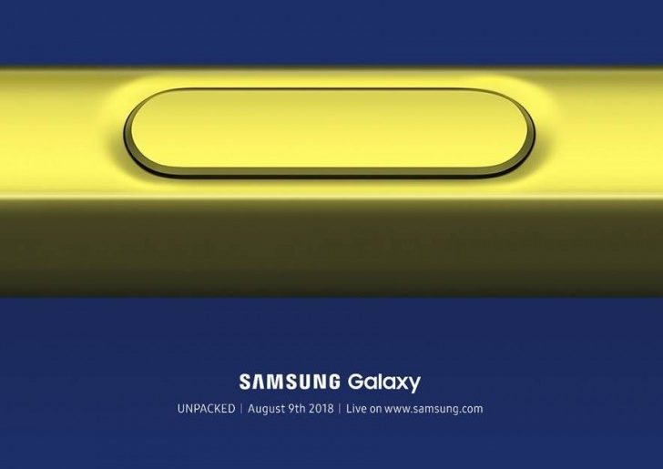 Galaxy Note 9 728x515 - Samsung Galaxy Note 9 to be Unveiled on August 9!
