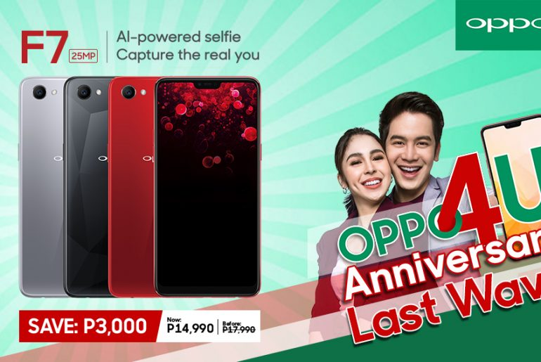 OPPO F7 Now Priced at PhP14,990!