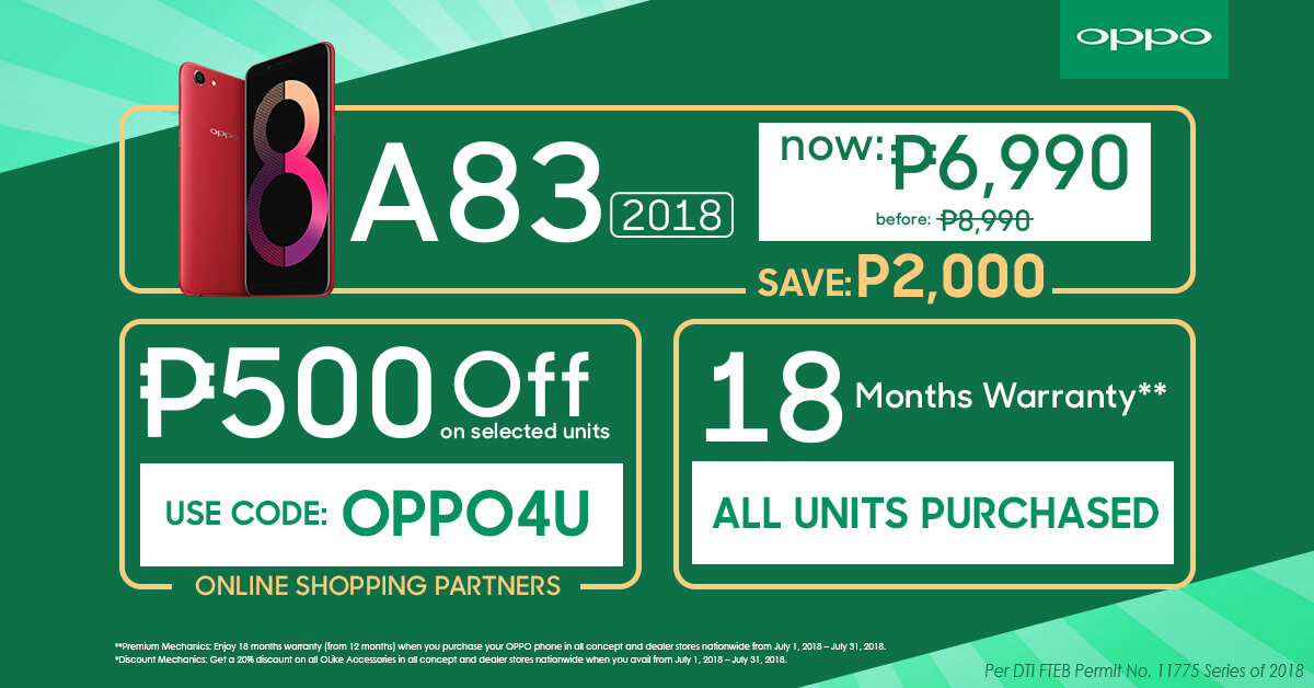 OPPO4U exclusive deals July 3 - OPPO Announces OPPO4U Anniversary Sale for July!