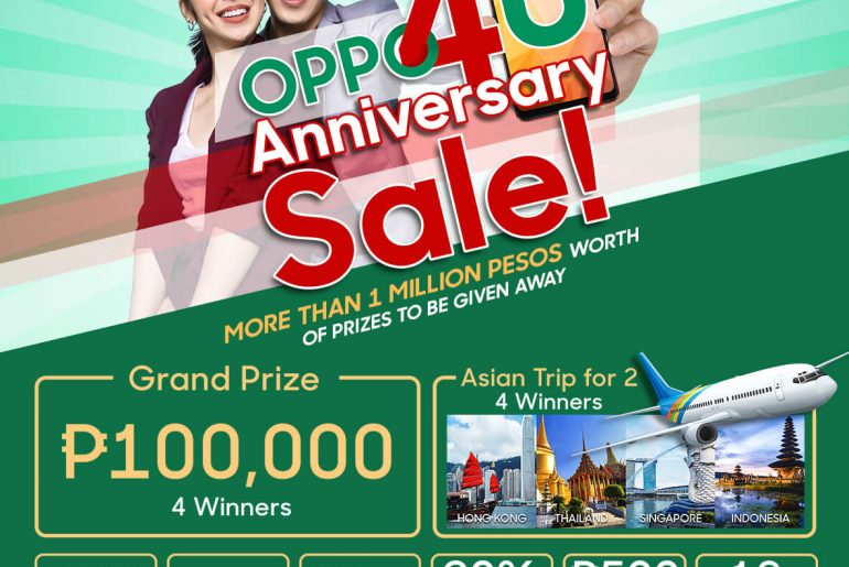 OPPO4U main poster July 3 770x515 - OPPO Announces OPPO4U Anniversary Sale for July!