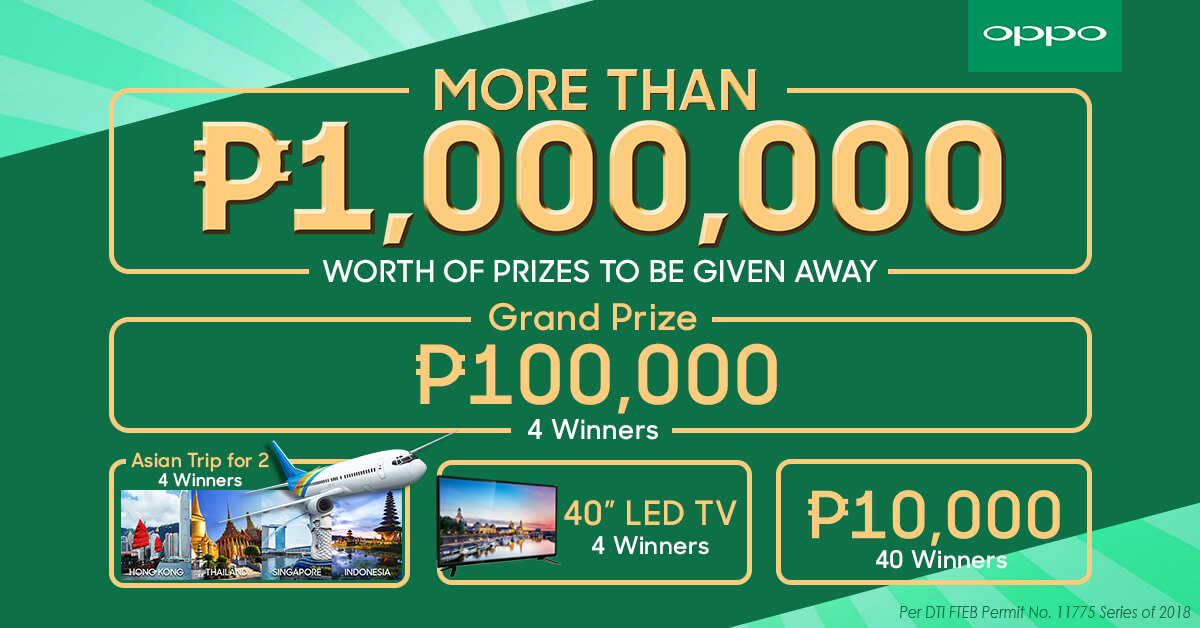 OPPO4U raffle prizes July 3 - OPPO Announces OPPO4U Anniversary Sale for July!