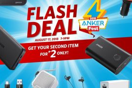 anker flash deal 270x180 - Get Your Second Anker Product for Only 2 Pesos with the Ankerfest 2018 Flash Deals!
