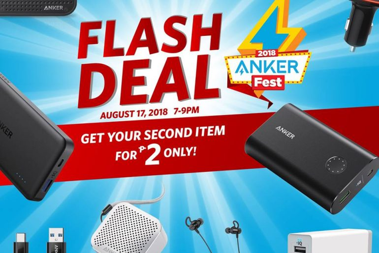 anker flash deal 770x515 - Get Your Second Anker Product for Only 2 Pesos with the Ankerfest 2018 Flash Deals!