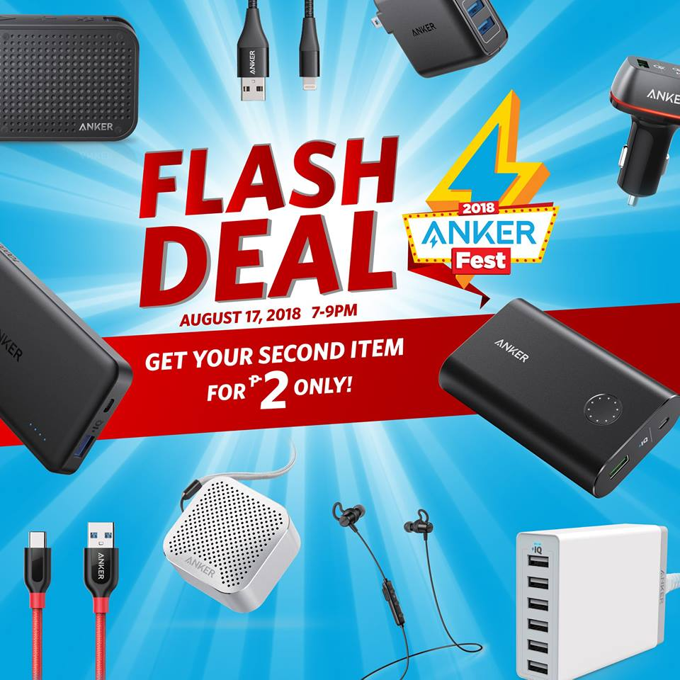 Get Your Second Anker Product for Only 2 Pesos with the Ankerfest 2018 Flash Deals!