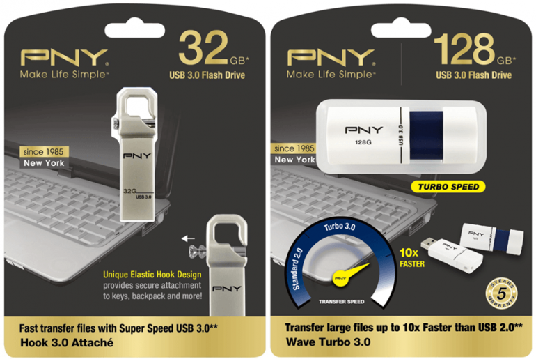 PNY Announces Hook Attaché 3.0 and Wave Turbo 3.0 USB Drives