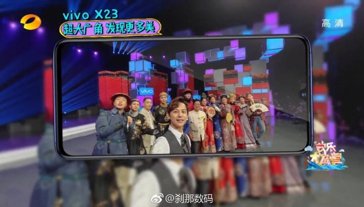 Vivo X23 Spotted on Live TV Show, Shows Smaller Notch