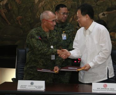 LG Donates to the AFP in Celebration of National Heroes Day