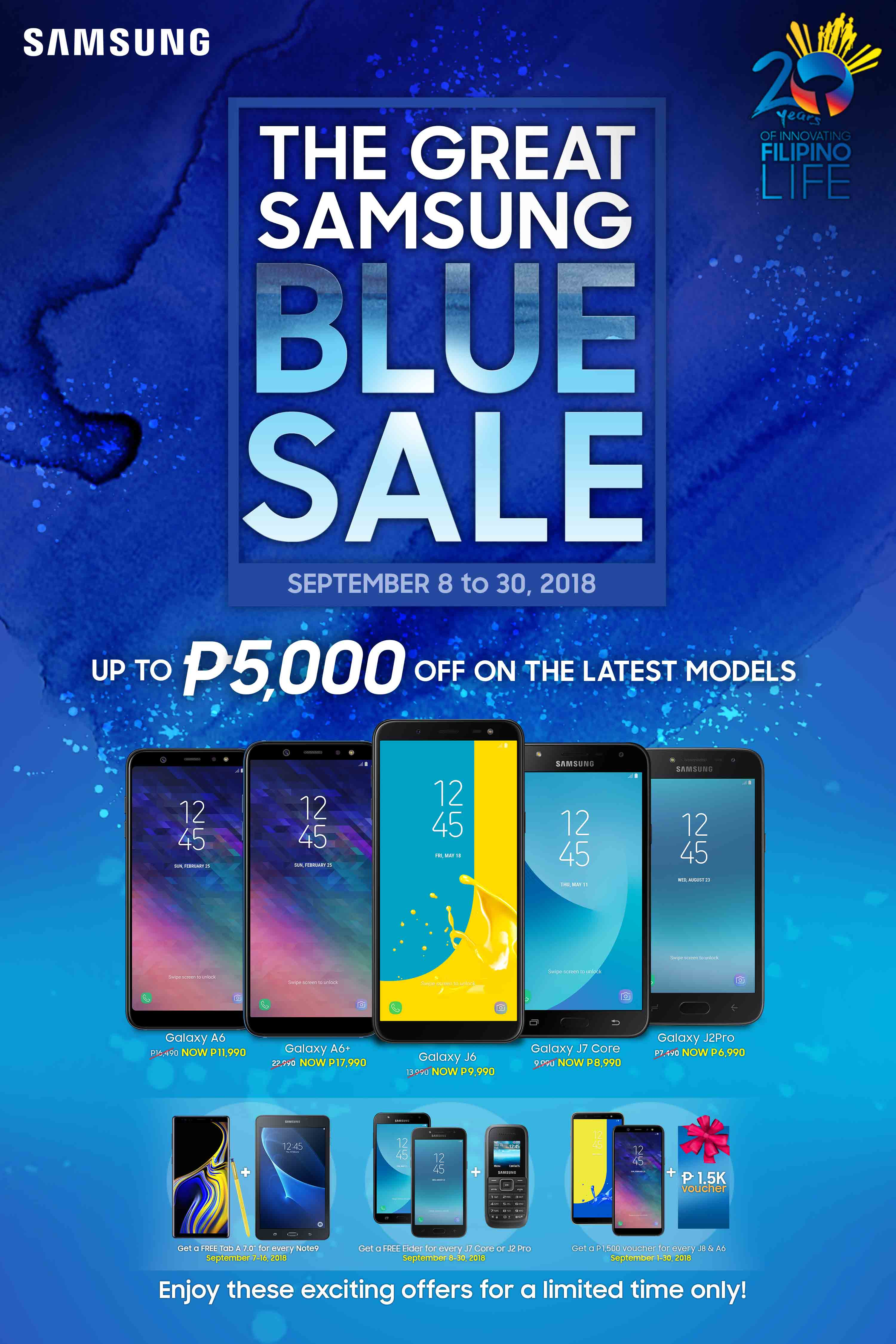 Samsung Announces Great Blue Sale: Up to PhP5,000 on Select Smartphones!