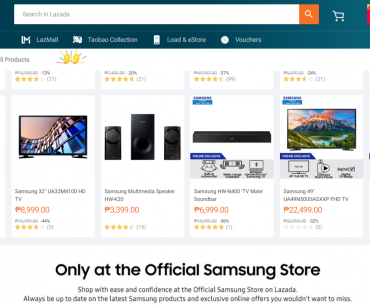 Samsung Store Lazada 370x305 - Enjoy Great Offers on Samsung Products in Lazada's 9.9 Sale!