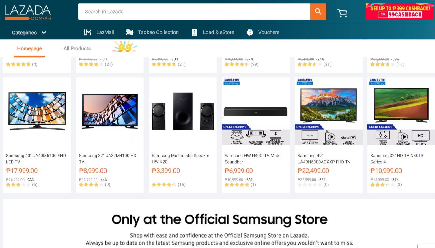 Enjoy Great Offers on Samsung Products in Lazada's 9.9 Sale!