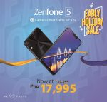 ASUS Announces Early Holiday Sale - ZenFone 5 Now Priced at PhP17,995!