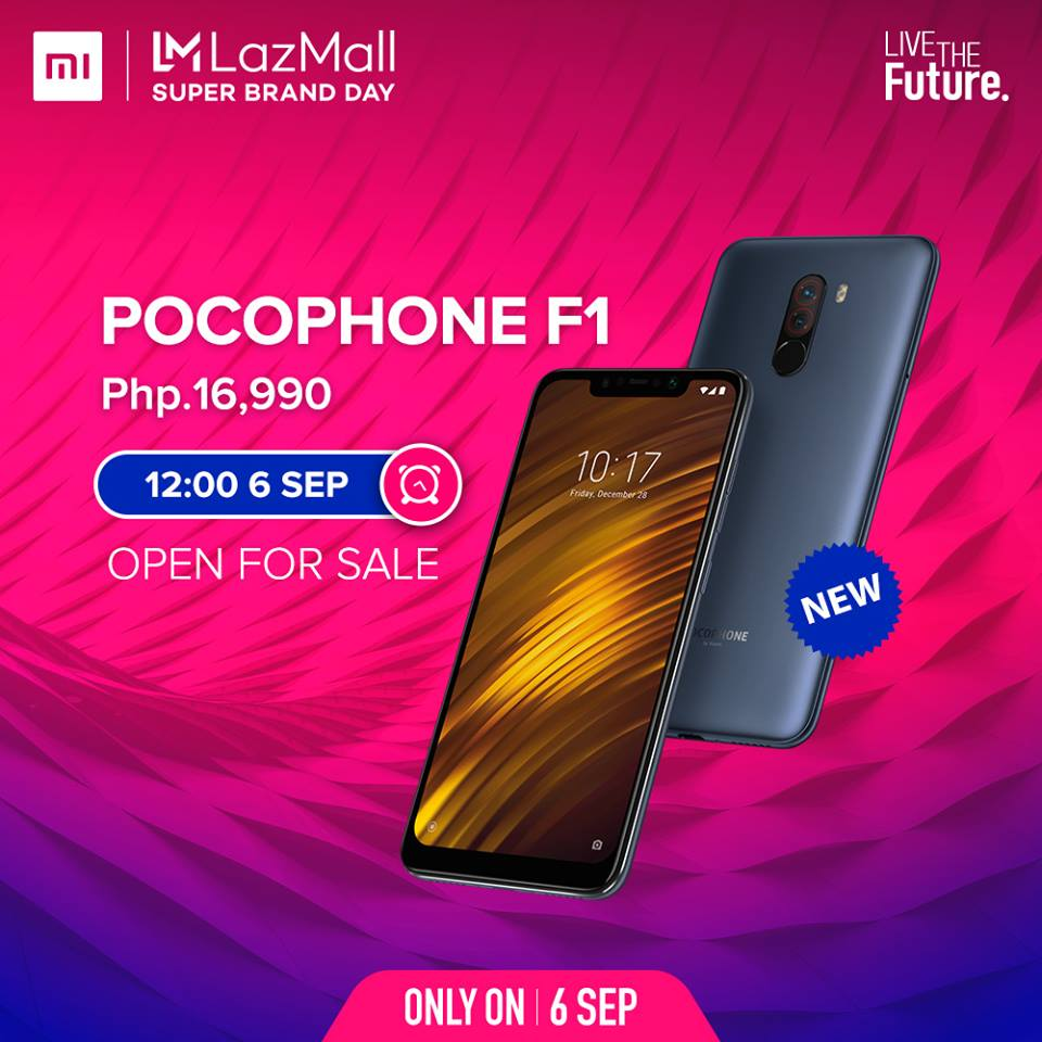 Pocophone F1 Goes on Sale Today in Lazada!