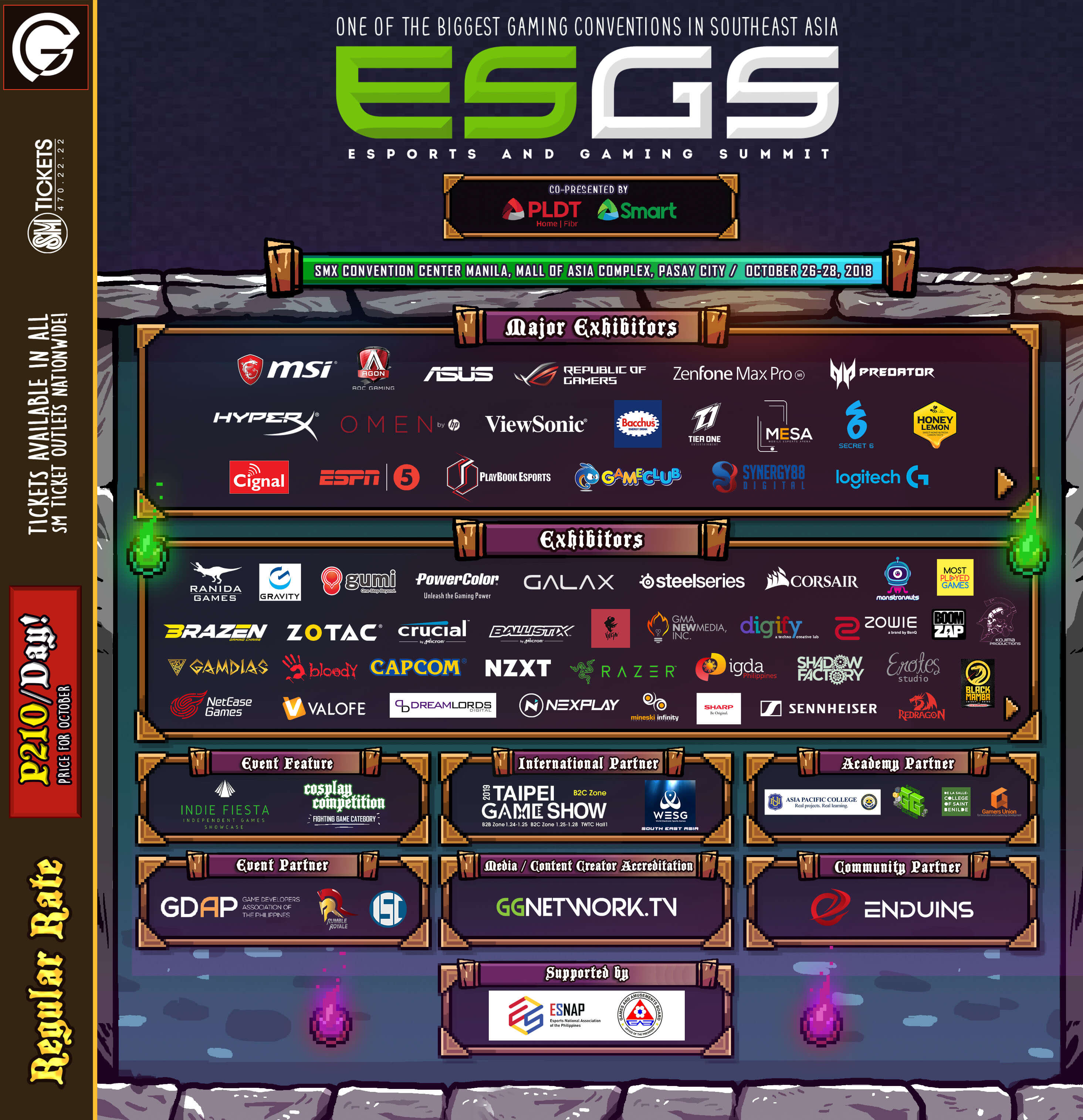 ESGS 2018 Brings You a Full Weekend of Action and Esports!