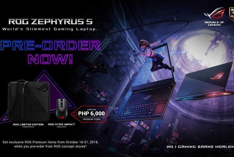 ASUS ROG Launches GX531 Zephyrus S in PH: Pre-Order Details Announced!