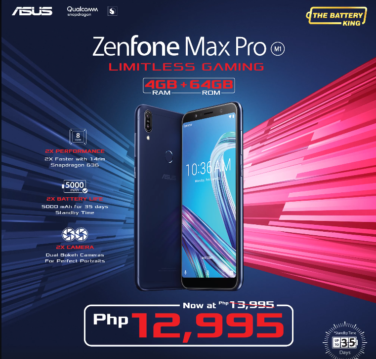 asus zenfone max pro m1 4gb, The ASUS ZenFone Max Pro M1 4GB Variant is Now More Affordable!, Gadget Pilipinas, Gadget Pilipinas