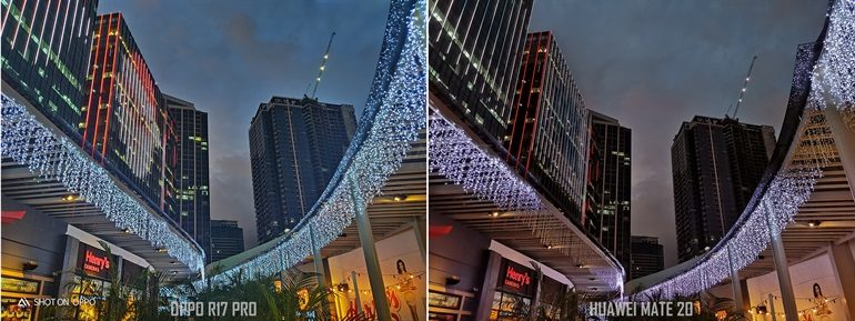 OPPO R17 Pro vs Huawei Mate 20 Night Photography Shootout