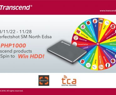 Visit Transcend at Perfectshot in SM City North EDSA for a Chance to Win Goodies!