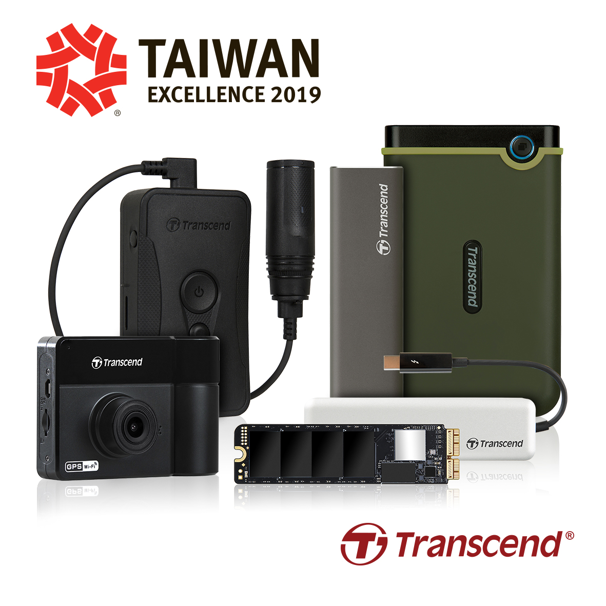 Transcend Wins Five Taiwan Excellence Awards 2019