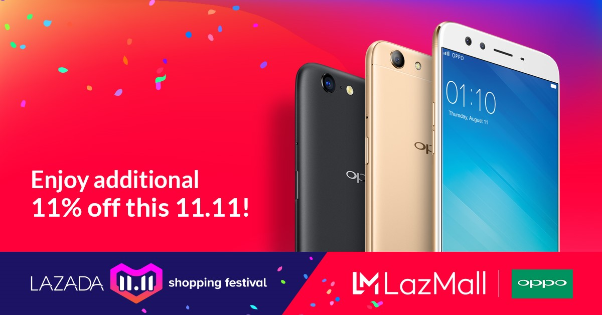 Some OPPO smartphones are on sale at Lazada's 11-11