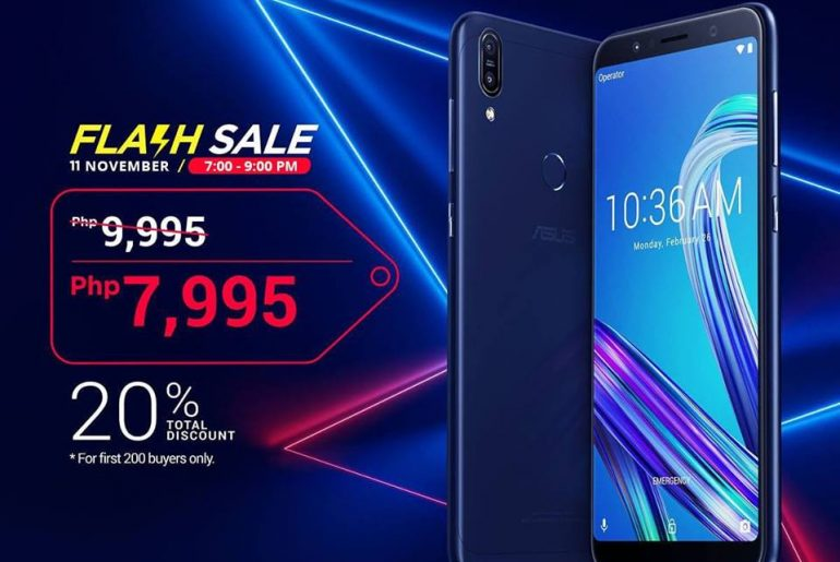 Get the ASUS ZenFone Max Pro M1 (3GB/32GB) for Only PhP7,995 at Lazada (7:00PM to 9:00PM Only)!