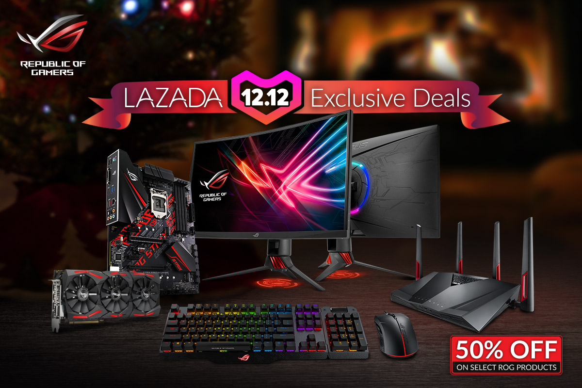 asus rog lazada, Get Up to 50% Off on Select ASUS and ROG Products at Lazada's 12.12 Sale!, Gadget Pilipinas, Gadget Pilipinas