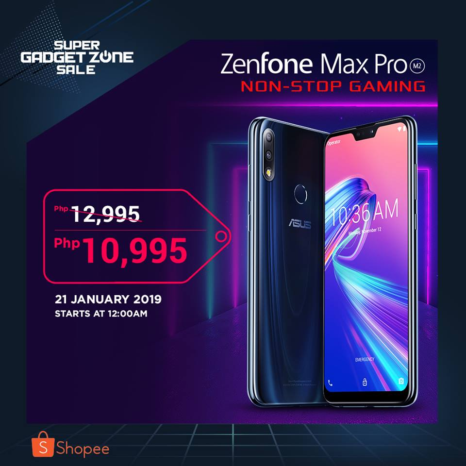 zenfone max pro m2, Shopee-Exclusive: ASUS ZenFone Max Pro M2 (4GB) for only PhP10,995!, Gadget Pilipinas