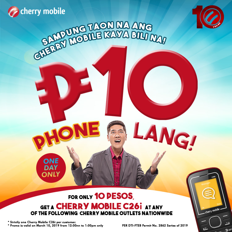 cherry mobile C26i, Get a Cherry Mobile C26i for only PhP10 on March 10!, Gadget Pilipinas