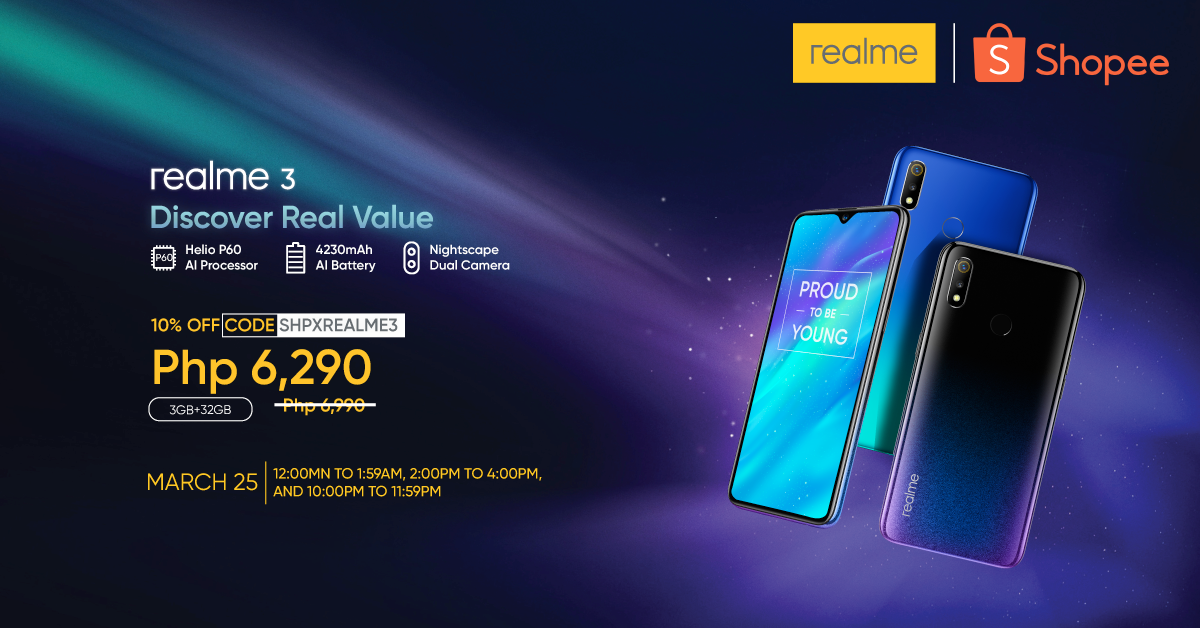 Realme 3 Shopee Sale