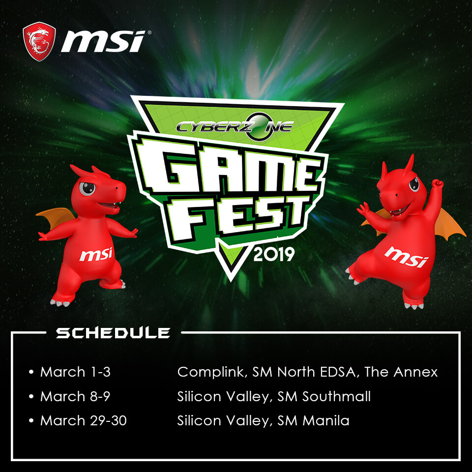cyberzone game fest msi, MSI Joins Cyberzone Game Fest 2019!, Gadget Pilipinas