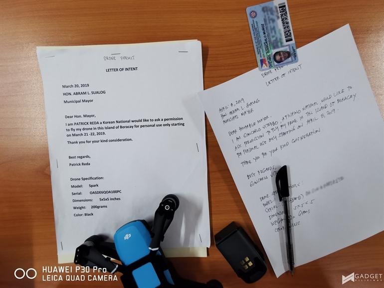 How to secure permit to fly a drone in Boracay